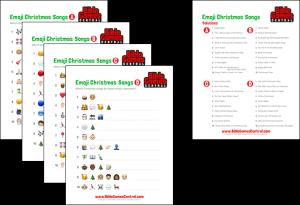 Emoji Christmas Song Challenge