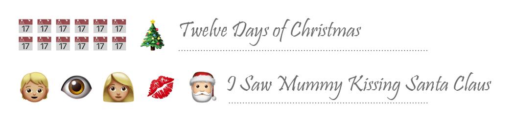 Emoji Christmas Song Examples