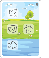 Bible Animals Click Clack Match Card5 Description