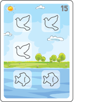 Bible Animals Click Clack Match Card7 Description