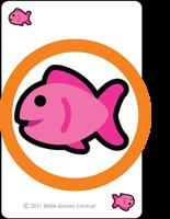 Emoji Bible Stories Fish Circled Description