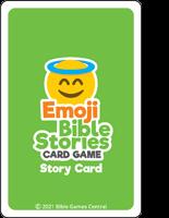 Emoji Bible Stories Green Card Back Description