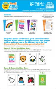 Emoji Bible Stories Instructions Description