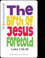 Emoji Bible Stories Jesus Birth Green Card Description