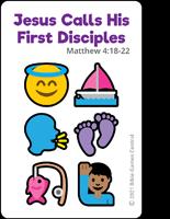 Emoji Bible Stories Jesus Calls Purple Card Description