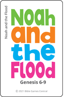 Emoji Bible Stories Noah and the Flood Green Card Description