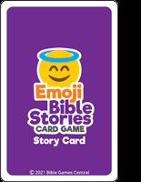 Emoji Bible Stories Purple Card Back Description