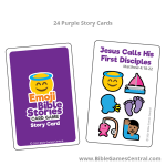 Emoji Bible Stories Purple Story Cards Product