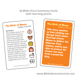 Emoji Bible Stories Summary Cards Product