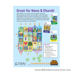 Bible Bingo Great for Home and Church Product