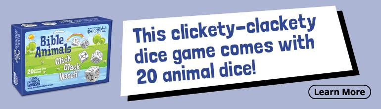 Bible Animals Click Clack Match