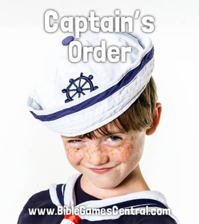 Captain's Order No Prep Sunday School Game