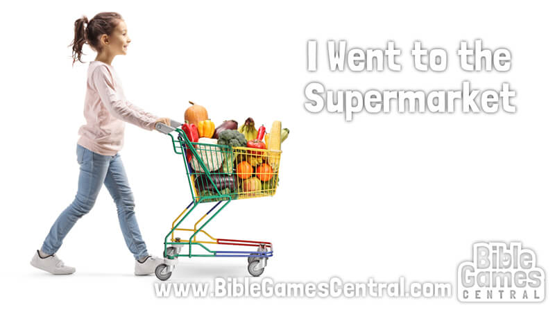 I Went to the Supermarket Calm Sunday School Game