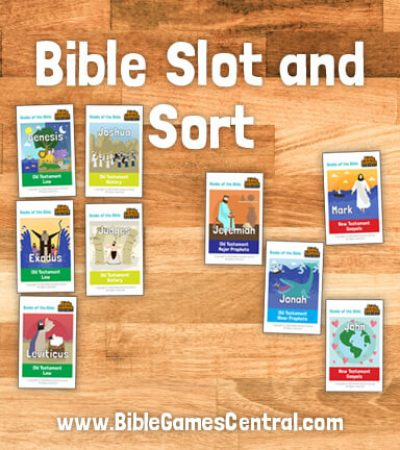 Bible Slot and Sort Books of the Bible Game