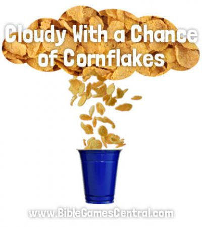 Cloudy With a Chance of Cornflakes Bible Game for Kids
