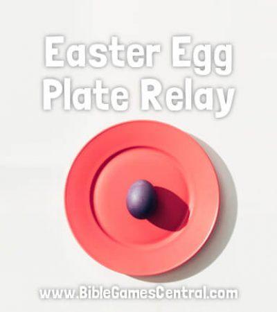 Easter Egg Plate Relay Game for Kids