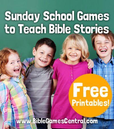 Kids Sunday School Games to Teach Bible Stories
