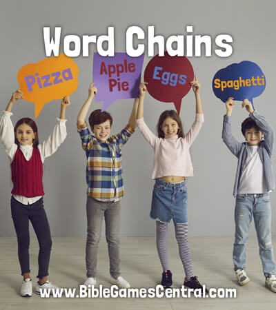 Word Chains Calm Sunday School Game